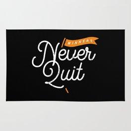 Winners never quit Rug