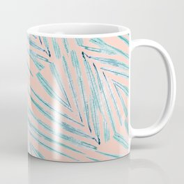Palm Leaves Coral Coffee Mug