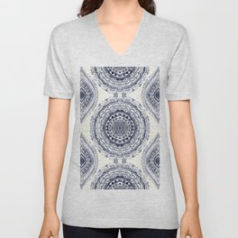 Supernova-In Navy, Dark Blue, & Grey Unisex V-Neck