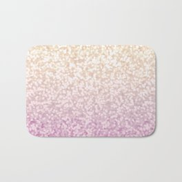 Champagne Gold and Pink Glitter Ombre Bath Mat