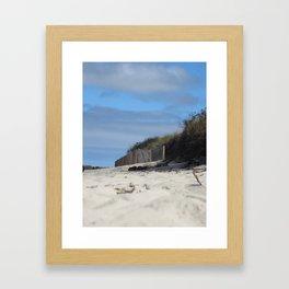 Cape Cod Sand Dunes Framed Art Print
