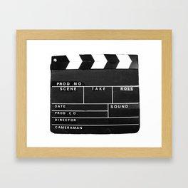Film Movie Video production Clapper board Framed Art Print