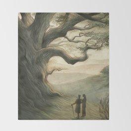 Sherlock Holmes - a patriarch among oaks Throw Blanket