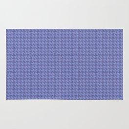 Dark Indigo Violet Houndstooth Pattern Rug