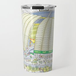 Dunas Arena, Natal, Rio Grande do Norte, Brazil Travel Mug