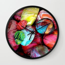 Colorful sea stones Wall Clock