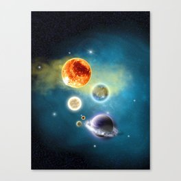 New Solar System Canvas Print