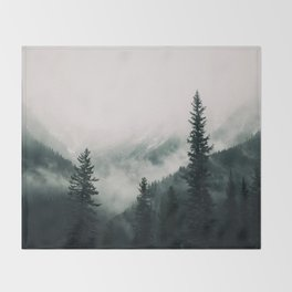 Over the Mountains and trough the Woods -  Forest Nature Photography Throw Blanket