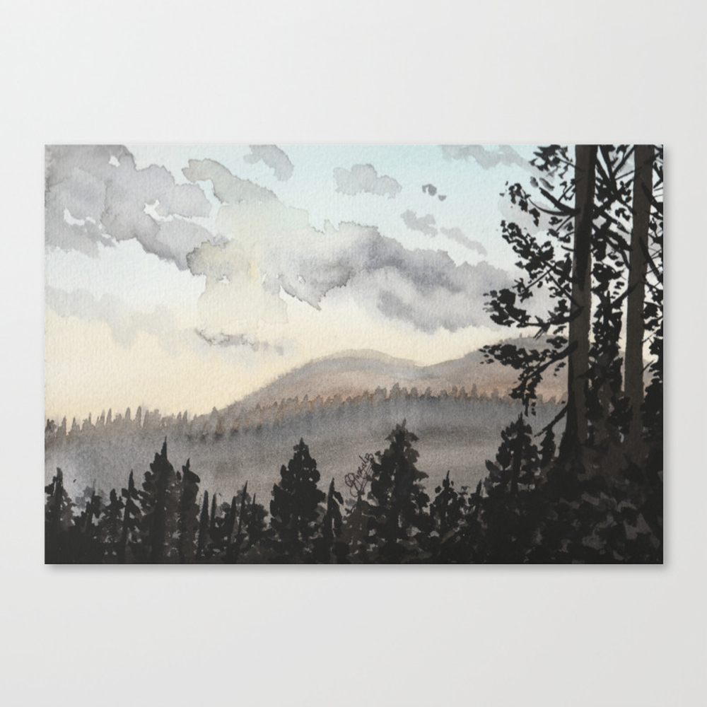The Place Beyond The Pines Canvas Print by Gabriellejade CNV9054648