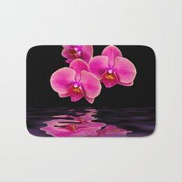 Mystical Pink Orchids Reflections Bath Mat