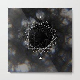Sun Delay Geometry Metal Print