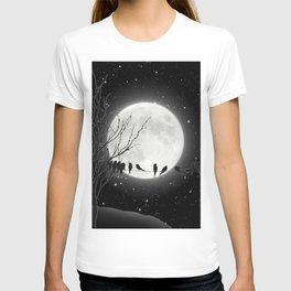 Moon Bath, Birds On A Wire T-shirt