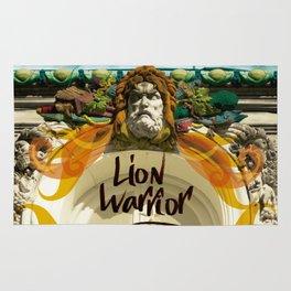 lion warrior - cara dura! Rug