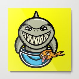 Spike the Shark Metal Print