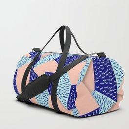 Colorful Aqua Geometric Pattern Duffle Bag