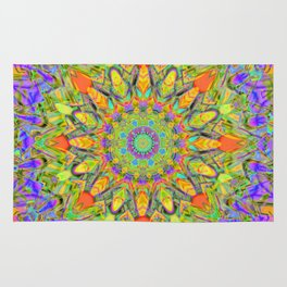 Abstract Flower AAA QQ YYY Rug