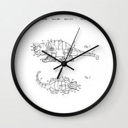 Little Cat Patent Wall Clock