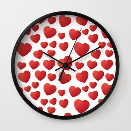 Hearts Pattern Wall Clock