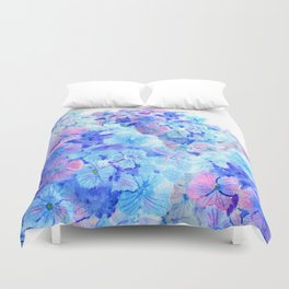 mountain of hydrangea Duvet Cover