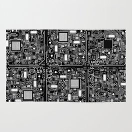 Serious Circuitry Rug