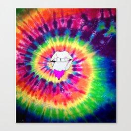 Hippie Mouth Canvas Print