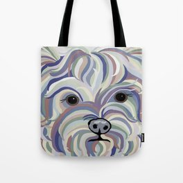 Yorkie Denim Colors Tote Bag