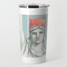 Liberty in PINK skyblue Travel Mug