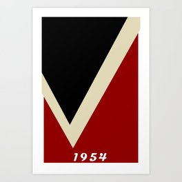 A Modernist V in Red, Black, and Gray - The University of Virginia's College at Wise Art Print