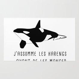 je ne chasse pas les baleines, j'assomme les harengs Rug