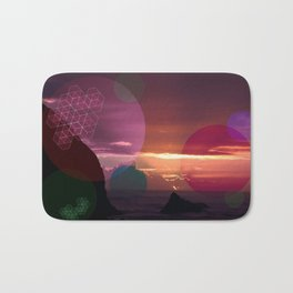 Colorful Sunset on the Beach Bath Mat