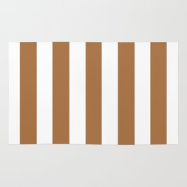 Metallic bronze - solid color - white vertical lines pattern Rug