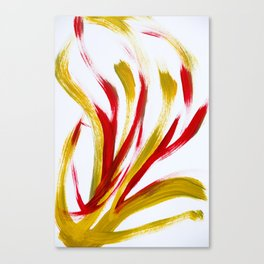 Flame Abstract Painting Canvas Print