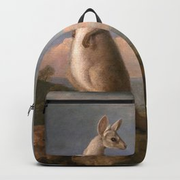 The Kongouro Oil Painting by Australian Artist George Stubbs Backpack