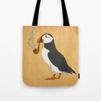 ariana grande Tote Bags featuring Puffin' by Megs stuff...