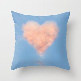 Heart Cloud Circle Throw Pillow