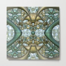 Digital adventure, fractal abstract Metal Print