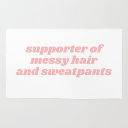 supporter of messy hair Rug