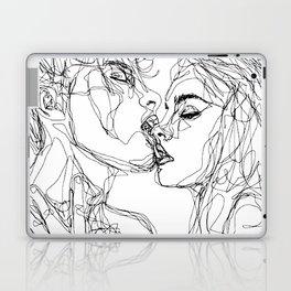 kiss more often (B & W) Laptop & iPad Skin