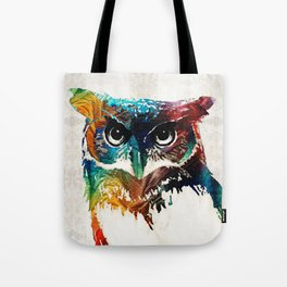 Colorful Owl Art - Wise Guy - By Sharon Cummings Tote Bag