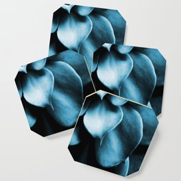 Succulent Leaves In Turquoise Color #decor #society6 #homedecor Coaster