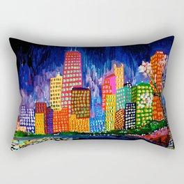 Chicago Night Life Rectangular Pillow