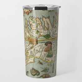 Iceland Map 1590 Travel Mug