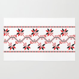 ukraine folk motifs Rug