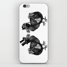 Mr and Mrs Dodo | Black and White iPhone Skin