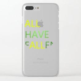 All Have Fallen Short T-shirt Inspirational tee Clear iPhone Case