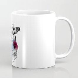 Skull in the bloom Coffee Mug