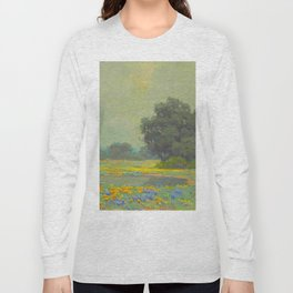 Granville Redmond (1871-1935) Landscape Flower Field Long Sleeve T-shirt