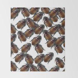 Cock A Roach  Throw Blanket