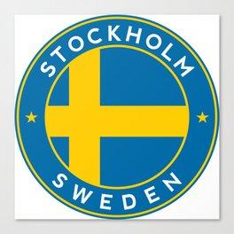 Sweden, Stockholm, circle Canvas Print