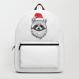 Santa Raccoon Backpack